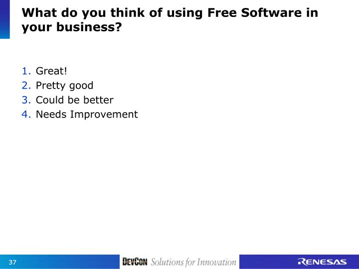 What do you think of using Free Software in your business?