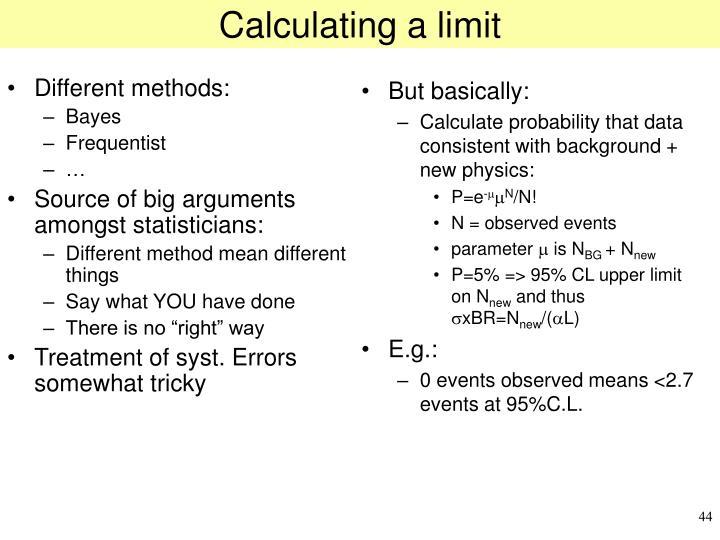Calculating a limit