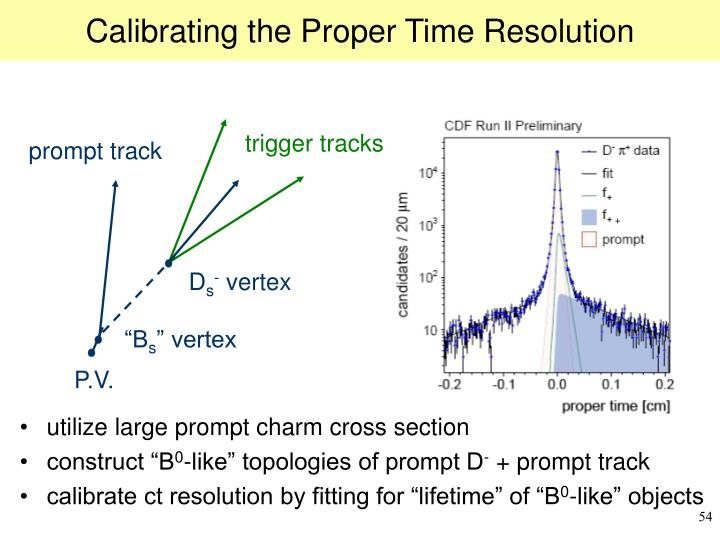 Calibrating the Proper Time Resolution