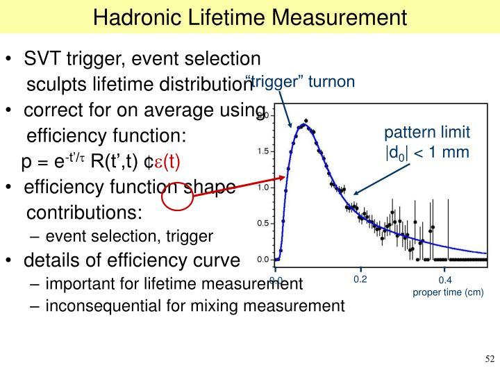 Hadronic Lifetime Measurement