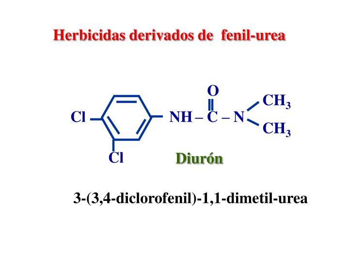 Herbicidas derivados de  fenil-urea