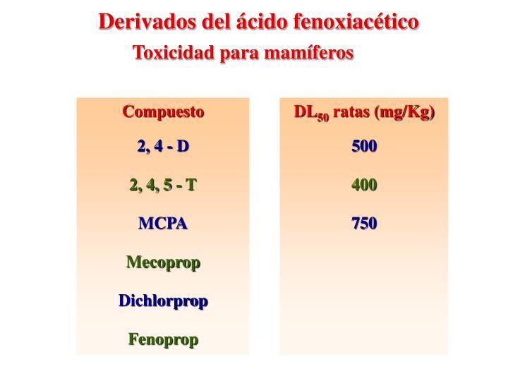 Derivados del ácido fenoxiacético