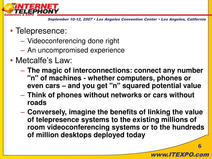 Telepresence: