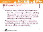 quickscan opzet