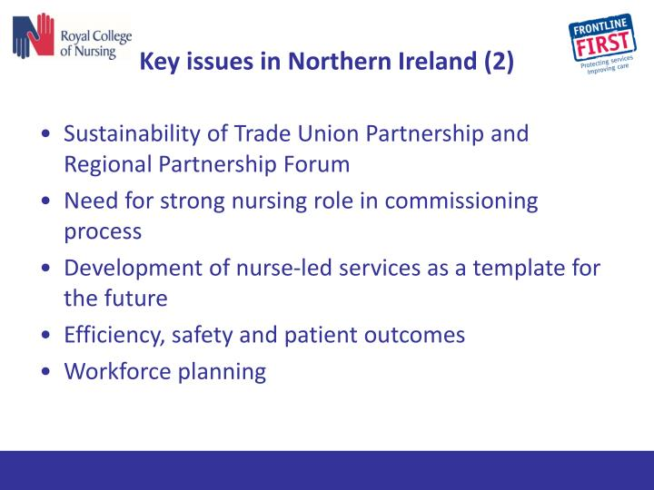 Key issues in Northern Ireland (2)
