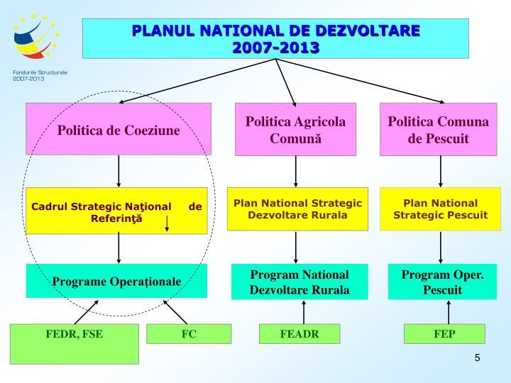 PLANUL NATIONAL DE DEZVOLTARE