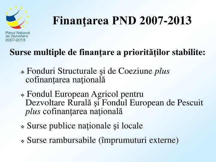 Finanţarea PND 2007-2013