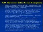 aba multicenter trials group bibliography