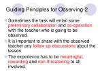 guiding principles for observing 2