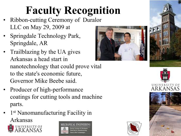 Faculty Recognition