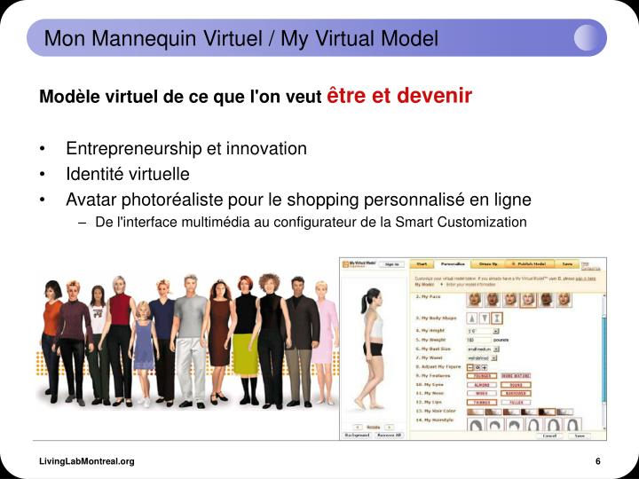 Mon Mannequin Virtuel / My Virtual Model