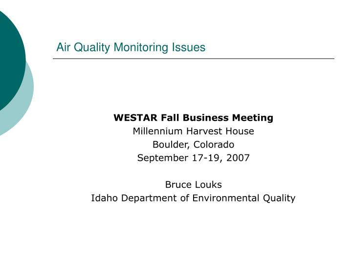 air quality monitoring issues n.