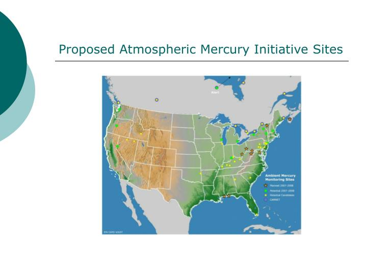 Proposed Atmospheric Mercury Initiative Sites