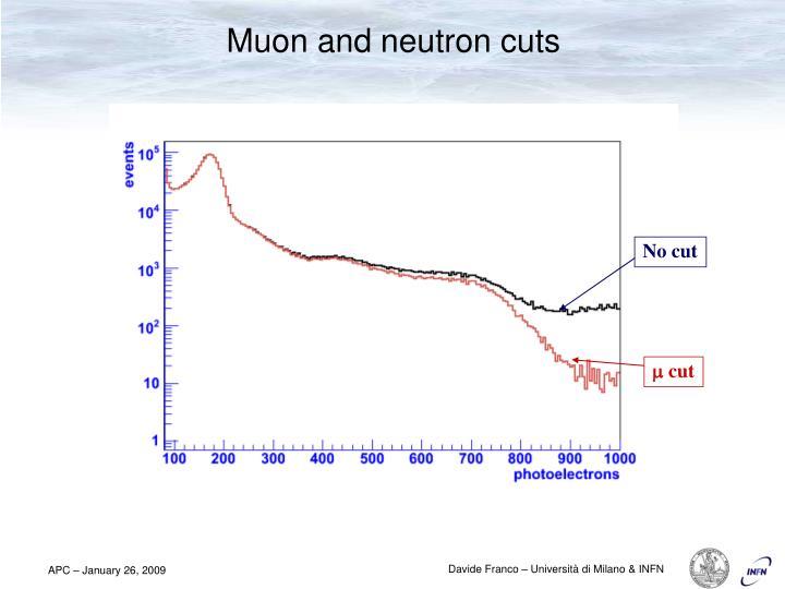 Muon and neutron cuts