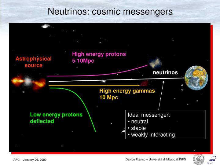 Neutrinos cosmic messengers