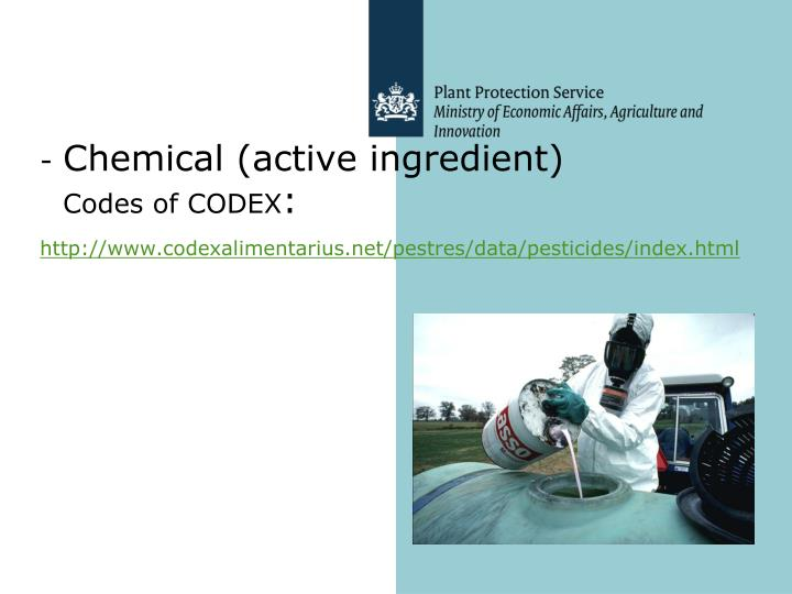 Chemical (active ingredient)