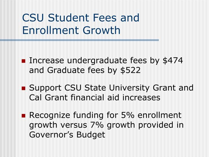 CSU Student Fees and