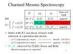 charmed mesons spectroscopy