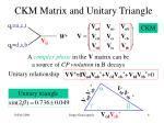 ckm matrix and unitary triangle