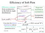 efficiency of soft pion