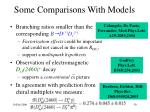 some comparisons with models