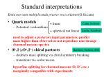 standard interpretations