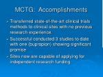 mctg accomplishments