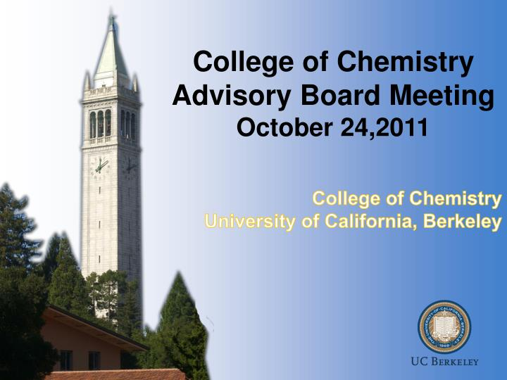 college of chemistry advisory board meeting october 24 2011