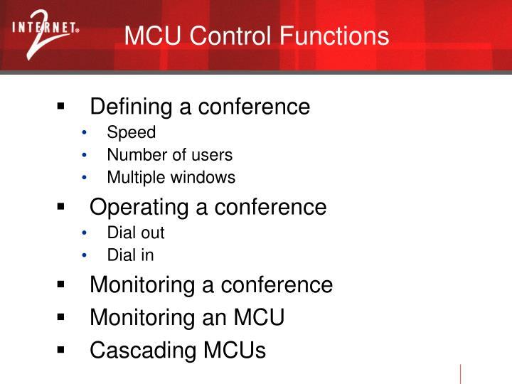 MCU Control Functions