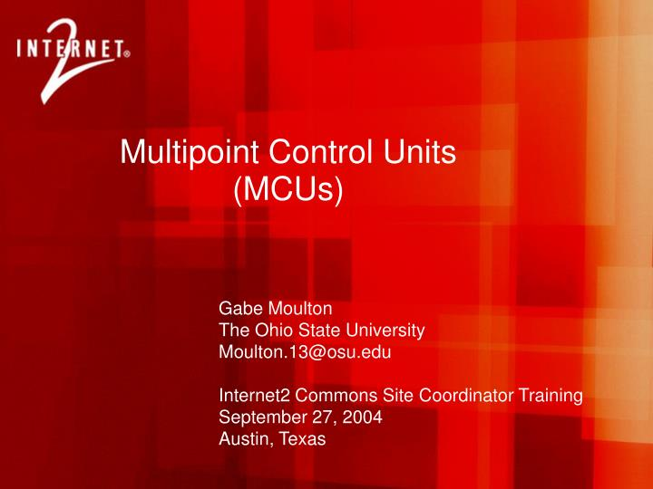 Multipoint control units mcus