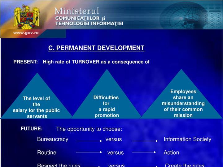 C. PERMANENT DEVELOPMENT