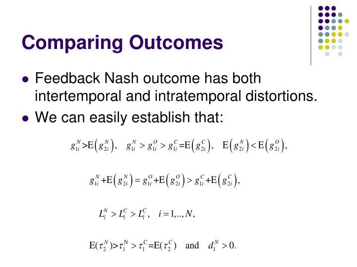 Comparing Outcomes