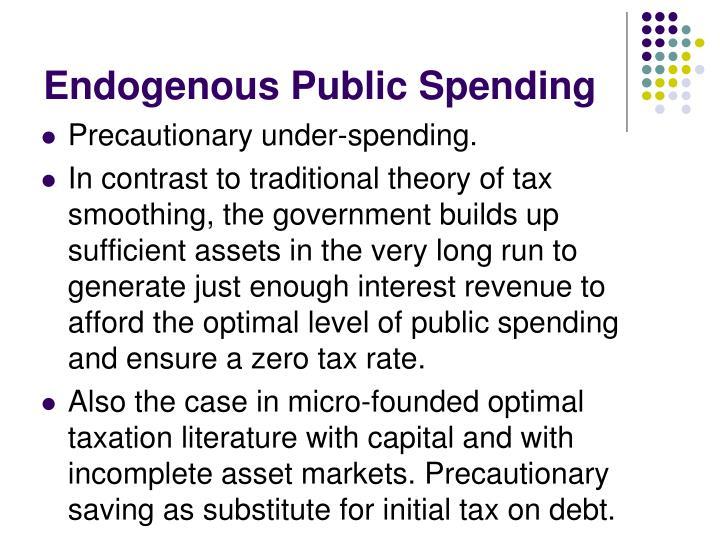 Endogenous Public Spending