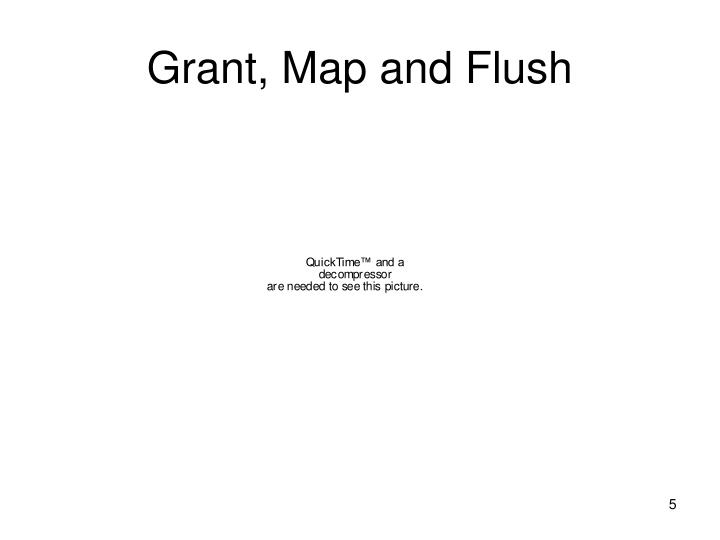 Grant, Map and Flush