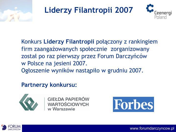 Liderzy filantropii 20071