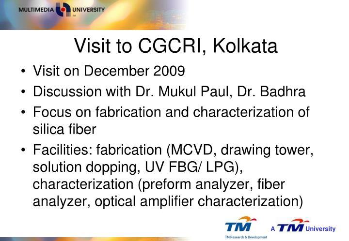 Visit to CGCRI, Kolkata