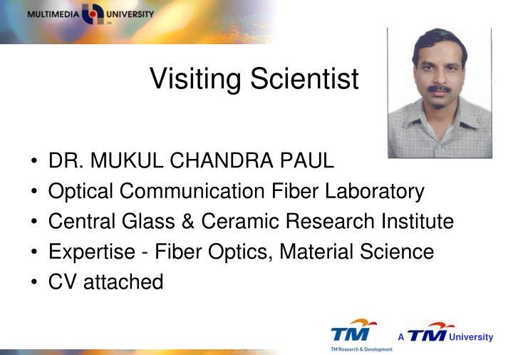 Visiting Scientist