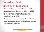 immediate goals grant submitted 2012