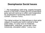 deemphasize social issues