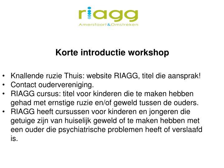 Korte introductie workshop