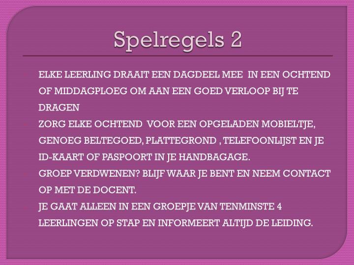Spelregels 2