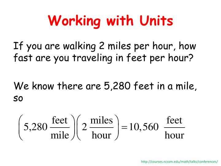 Working with Units