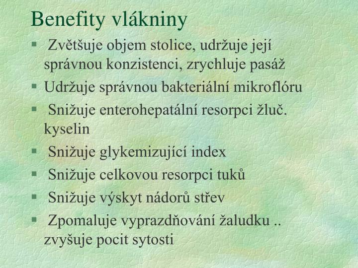 Benefity vlákniny