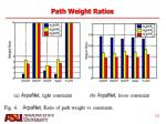 path weight ratios