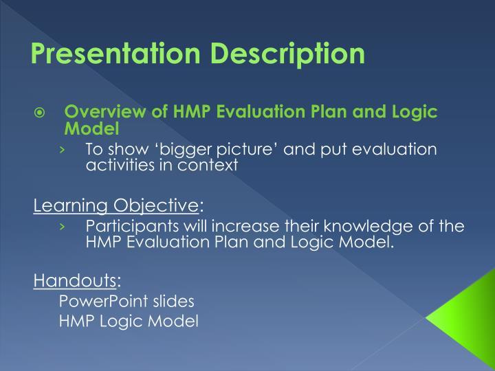 Presentation description