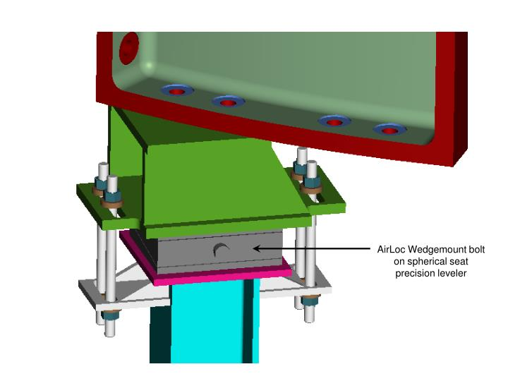 AirLoc Wedgemount bolt on spherical seat precision leveler