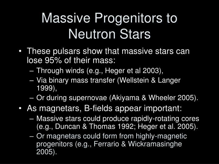 Massive Progenitors to