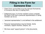filling in the form for someone else