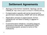 settlement agreements1
