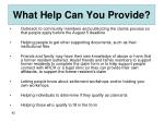 what help can you provide